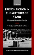 Cover for French Fiction in the Mitterrand Years