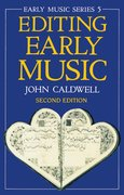 Cover for Editing Early Music