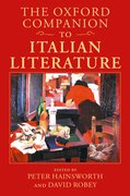 Cover for The Oxford Companion to Italian Literature