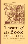 Cover for Theatre of the Book, 1480-1880