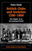 Cover for British Clubs and Societies 1580-1800