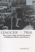 Cover for Genocide on Trial