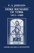 Cover for Duke Richard of York 1411-1460