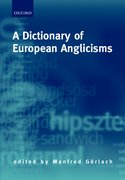 Cover for A Dictionary of European Anglicisms