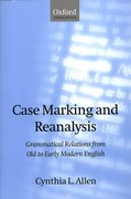 Cover for Case Marking and Reanalysis