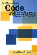 Cover for Social Motivations for Codeswitching