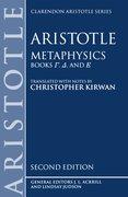 Cover for Metaphysics: Books <i>gamma, delta,</i> and <i>epsilon</i>