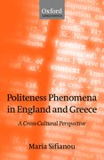 Cover for Politeness Phenomena in England and Greece