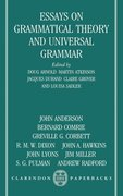 Cover for Essays on Grammatical Theory and Universal Grammar
