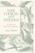 Cover for Wise Choices, Apt Feelings