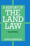 Cover for A History of the Land Law