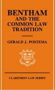 Cover for Bentham and the Common Law Tradition