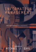 Cover for Information Management: The Organizational Dimension