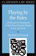 Cover for Playing by the Rules
