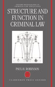 Cover for Structure and Function in Criminal Law