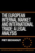 Cover for The European Internal Market and International Trade