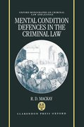 Cover for Mental Condition Defences in the Criminal Law