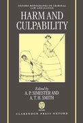 Cover for Harm and Culpability