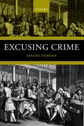 Cover for Excusing Crime