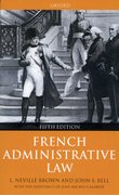 Cover for French Administrative Law