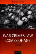 Cover for War Crimes Law Comes of Age