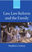 Cover for Law, Law Reform and the Family