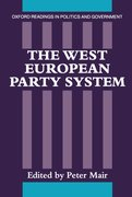 Cover for The West European Party System