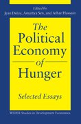 Cover for The Political Economy of Hunger: Selected Essays