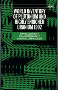 Cover for World Inventory of Plutonium and Highly Enriched Uranium 1992