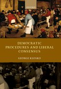 Cover for Democratic Procedures and Liberal Consensus