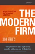 Cover for The Modern Firm
