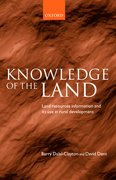 Cover for Knowledge of the Land