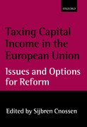 Cover for Taxing Capital Income in the European Union