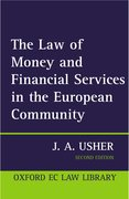 Cover for The Law of Money and Financial Services in the EC