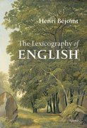 Cover for The Lexicography of English