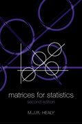 Cover for Matrices for Statistics