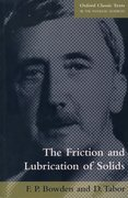 Cover for The Friction and Lubrication of Solids