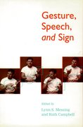 Cover for Gesture, Speech, and Sign