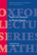 Cover for Topics on Analysis in Metric Spaces