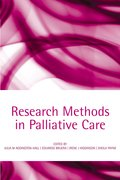 Cover for Research methods in palliative care