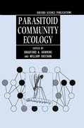 Cover for Parasitoid Community Ecology