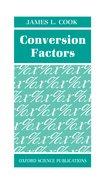 Cover for Conversion Factors