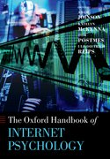 Cover for Oxford Handbook of Internet Psychology