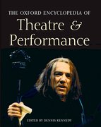 Cover for The Oxford Encyclopedia of Theatre and Performance