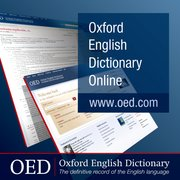Cover for Oxford English Dictionary Online - 9780198605553