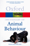 Cover for A Dictionary of Animal Behaviour