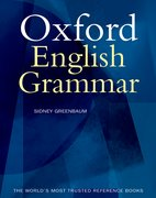 Cover for The Oxford English Grammar