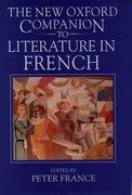 Cover for The New Oxford Companion to Literature in French