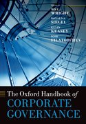 Cover for The Oxford Handbook of Corporate Governance