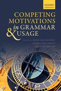 Cover for Competing Motivations in Grammar and Usage